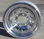 "15"" Aluminum Mod S20 Trailer Wheel 6 Hole"