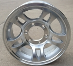 "15"" Aluminum Type T03 Silver (Split Spoke) Trailer Wheel 6 Hole"