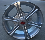 "15"" Aluminum Type T05 Silver Trailer Wheel 6 Hole"