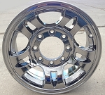 "16"" Chromed Aluminum Type T03 Trailer Wheel 8 Hole"