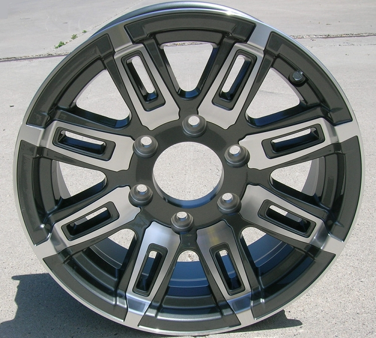6 Hole 16 Inch Rims Fit : Quot aluminum type t gray trailer wheel hole