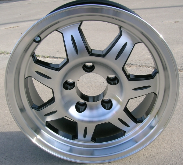 12 Aluminum 7 Spoke Trailer Wheel