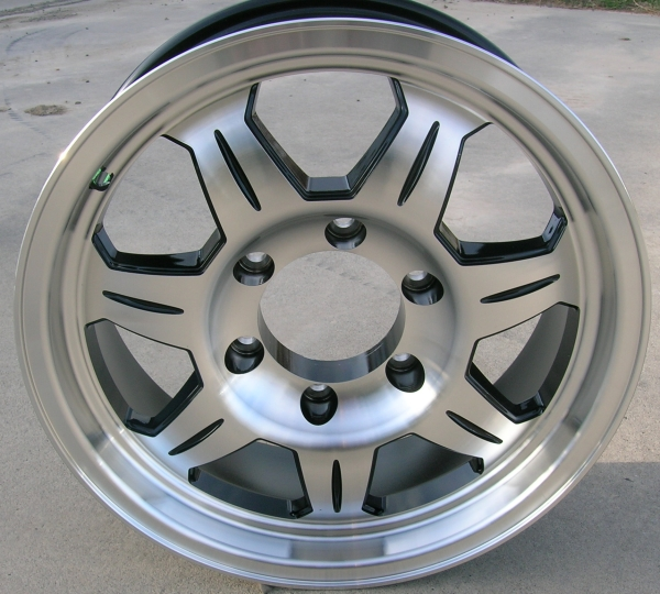 6 Hole 16 Inch Rims Fit : Quot aluminum spoke trailer wheel hole