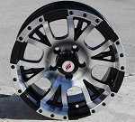"15"" Aluminum Type S13 Black Trailer Wheel (Center Cap Included)"