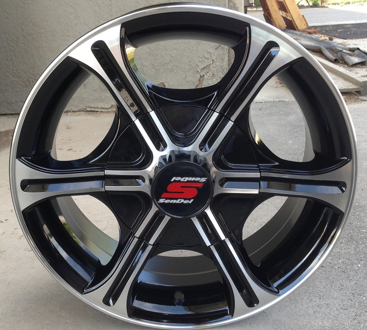 6 Hole 16 Inch Rims Fit : Quot aluminum type t black trailer wheel hole
