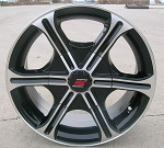 "15"" Aluminum Type T05 Black Trailer Wheel"