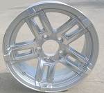 "14"" Aluminum Type T06 Silver Trailer Wheel"