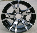"14"" Aluminum Type T07 Black Trailer Wheel"