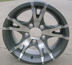 "14"" Aluminum Type T07 Gray Trailer Wheel"