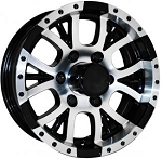 15 inch Aluminum Type T13 Sendel Black Trailer Wheel 6 Hole