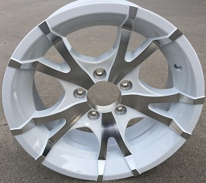 "15"" Aluminum Sendel Type T07 White Trailer Wheel"