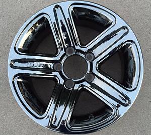 14' Dark Chromed Aluminum Type T09 Trailer Wheel