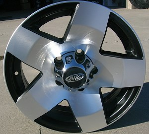 "14"" x 5.5"" Aluminum 5 Spoke (Star) AWC (Including Center)"