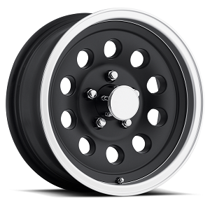 "15"" Aluminum Mod Sendel Type S20 Matt Black Trailer Wheel"