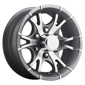 "15"" Aluminum Type T07 Gray Trailer Wheel 6 Hole"