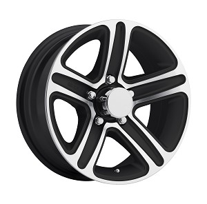 "15"" Aluminum Type T09 Black Trailer Wheel"