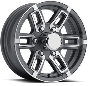"14"" Aluminum Type T06 Gray Trailer Wheel"