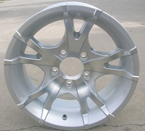 "15"" Aluminum Type T07 Silver Trailer Wheel"