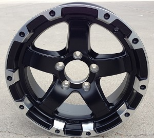 "15"" Aluminum Type T08 Matt Black Trailer Wheel"