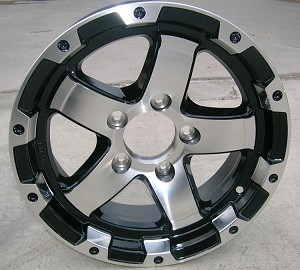 "14"" Aluminum Type T08 Black Trailer Wheel"
