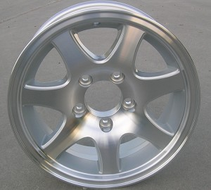 "14"" Aluminum Type T02 Silver Trailer Wheel"
