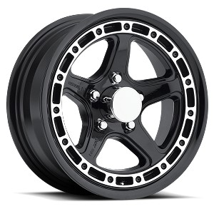 "15"" Aluminum Sendel Type T11 Black Trailer Wheel"