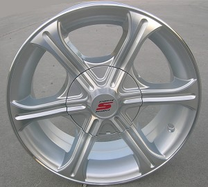 "14"" Aluminum Type T05 Silver Trailer Wheel"