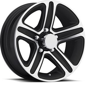 "14"" Aluminum Type T13 Black Trailer Wheel"