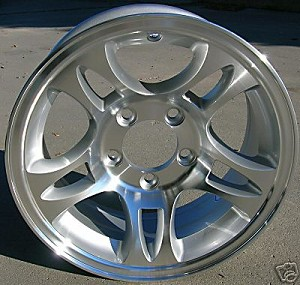 "15"" Aluminum Type T03 Silver Trailer Wheel"
